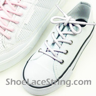 White Kids/27INCH Round Shoe Lace White ShoeString 2Pairs
