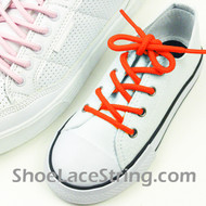 Neon Orange Kid/27IN Round ShoeLace NeonOrange ShoeString 2Pairs