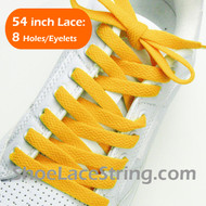 Golden Yellow 54INCH Shoe Laces Gold Yellow Shoe Strings 2Pairs