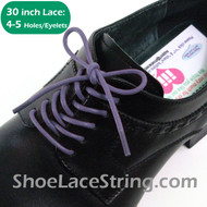 Lavender 30INCH Round Thin Dress Shoe Laces Strings, 1PAIR