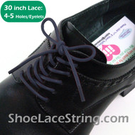 Blue 30INCH Dress Shoe Laces Round Thin ShoeStrings, 1PAIR