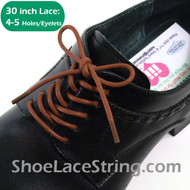 Brown 30INCH Dress Shoe Lace Round Thin Shoe Strings, 1PAIR