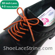Orange 30INCH Dress Shoe Laces Round Thin Shoe String, 1PAIR