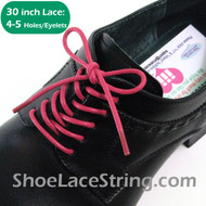 Hot Pink 30INCH Dress Shoe Lace Round Thin ShoeString, 1PAIR
