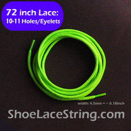 72INCH Neon Green Round Shoe/Boots/Sneaker Laces Strings, 1PAIR