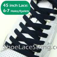 Navy Blue 45INCH Flat ShoeLaces Navy Shoe Strings 2Pairs