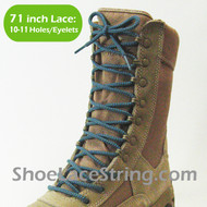 Gray & Light Blue 71IN Work/Combat Boots Round Laces 1PAIR