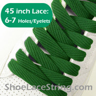 Green 45INCH Flat Wide/FAT Shoe Laces Sneaker Strings 2Pairs