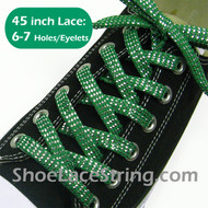 Green Twinkled sparkled 45INCH Shoe/Sneaker Laces Strings 1Pair