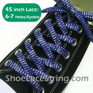 "Blue 45"" Cool Sparkling Twinkled Sneaker/ShoeStrings Laces 1Pair"