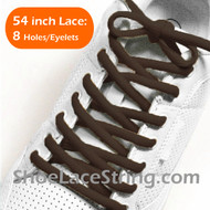 Brown 54INCH Oval ShoeLace Brown Oval ShoeString 2Pairs