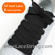 Black Extra Fat Laces Super Wide/Fat Shoestring 52INCH 2Pairs