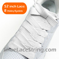 White Extra Fat Laces Super Wide/Fat Shoestring 52INCH 2Pairs