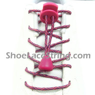 Hot Pink(Close to Fuchsia) Purple Elastic Laces with Locks 1Pair