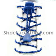 Light Blue x Blue Elastic Laces with Locks 1Pair