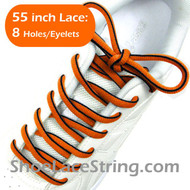 "Orange & Black 55"" 2Tone Oval ShoeLaces Sneaker Strings 1Pair"