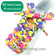 42INCH Hearts Pattern Extra Wide Shoe Sneaker Laces 1Pair