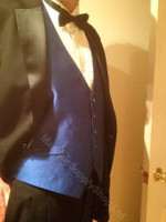 Formal Royal Blue Masonic Vest with Hidden Symbols