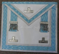 Worshipful Master/Past Master Apron with silver trim