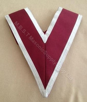 Grand Stewards Collar in crimson with white trim