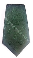 Dark Green Tie with Hidden Square and Compass