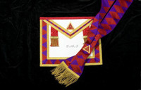 ROYAL ARCH PAST FIRST PRINCIPALS (HP)  APRON AND SASH  SET  (No Fringe)   APR-RA-P SET