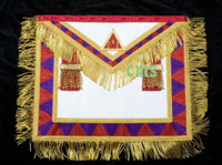 Principal's Apron  (HP) with Gold Fringe      APR-RA-PRF