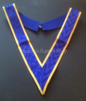 Royal Blue Collaret with Gold Trim