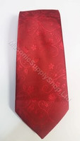 Red Masonic Tie with Wreathing and Symbols