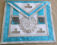 Silver PM Apron  with Wreath & Lodge Badge