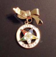 Order of the Easter Star Pin Officer Jewel -Life Member