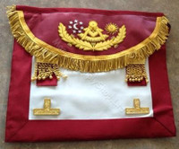Scottish  Past Master Apron Burgundy