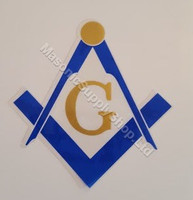 Square And Compass Decal     2 per pack