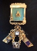 Past Master Breast  Pillar Jewel with Working Tools