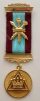 Royal Arch Past Z  2 bar Breast Jewel with Crossed Sceptors Two Colour