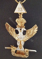 Scottish Rite  33rd  Degree Collar Jewel  Eagle