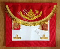 Scottish  Past Master Apron Crimson