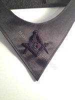Black on Black Masonic Cravat