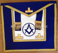 District Deputy Grand Master Aprons  with Circle - Gold Trim