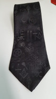 Black Masonic Symbol Tie