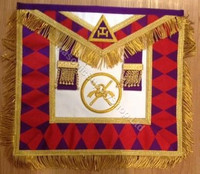 Royal Arch Grand Chapter Apron with Circle  with Fringe    APR-RA-GC-CF