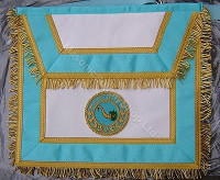 Irish Mason Apron with Lodge Badge