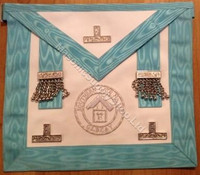 Past Masters  Apron with Silver Lodge Badge