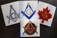 Canadian 4 pack Masonic  Decals