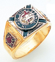 GOLD KNIGHTS TEMPLAR RING WITH COLOUR DETAIL  GLC686KT