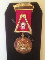 Royal Arch Past Z  1 Bar Breast Jewel with Crossed Sceptors  Engraved Jewel
