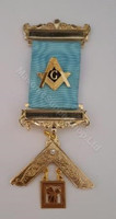 Past Master Breast Jewel  With Gold Square and Compass