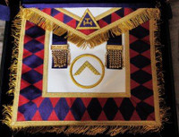 Royal Arch Grand Chapter Apron with Circle  with Fringe Purple Diamonds   APR-RA-GC-CF-P