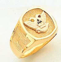 GOLD SCOTTISH RITE RING HOM319NE-X HOM319NE-X