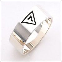 14th DEGREE SILVER BAND RING MASCJ2299